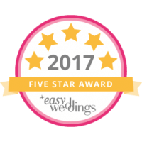 Easy Weddings 2017 5 Star Award